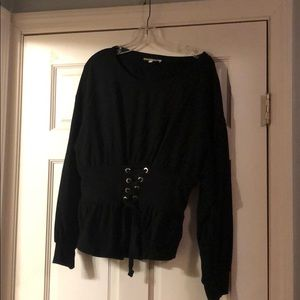 Express- Corset Waist Sweater - Size: Large